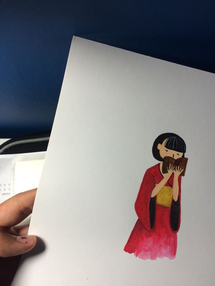 Japanese girl is reading a book