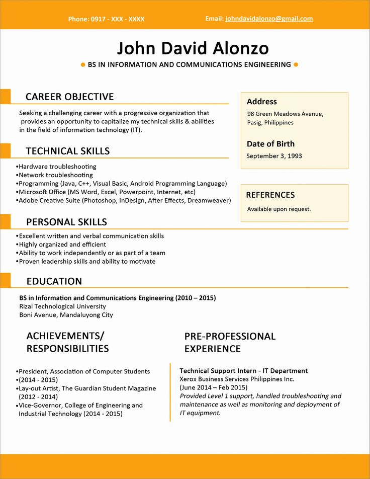Resume for Graduate School Template Inspirational Sample