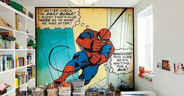 Pow! 15 Comic Book-Inspired Kids Rooms to the Rescue - http://bit.ly/1InOcxm