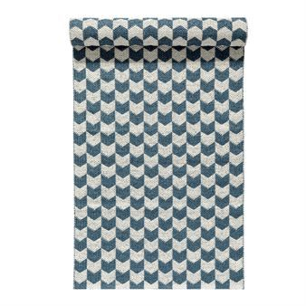 Knit Kunststoffteppich dusty blue - 70 x 200cm - Nordic Nest