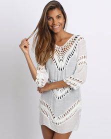Utopia Crochet Inset Tunic White