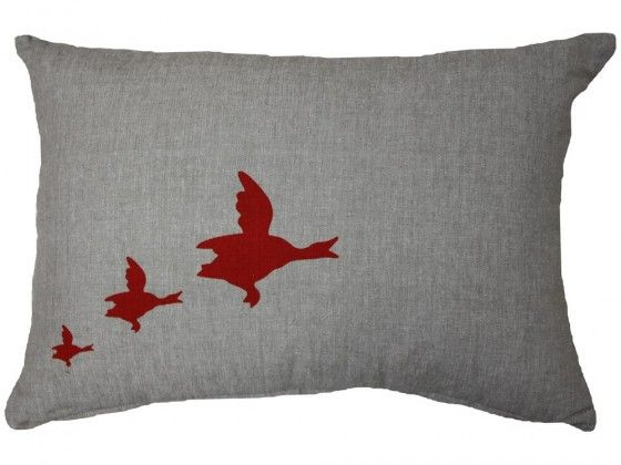 Mississippi Migrating Geese IIIMaterial Cotton  Colour Linen / Red  Size 500mmW x 350H   Price: $49.00