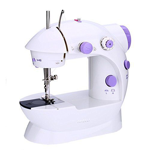 Anself Mini AC100-240V Machine à Coudre Electrique Réglage de la Vitess Ménage Purple Machine à Coudre 2 avec Pied Léger Pédale:…