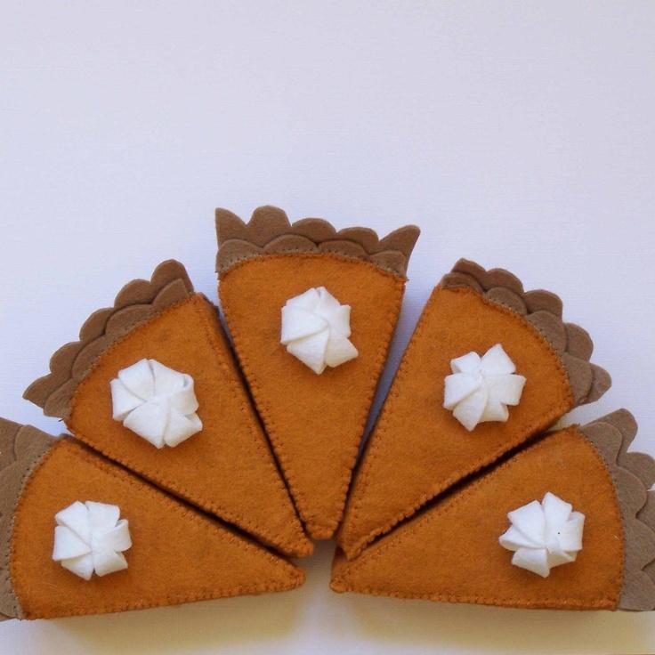 Pumpkin Pie Felt Food.