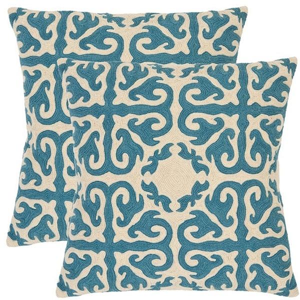 Morrocan Embroidered Blue Decorative Pillows via @Emily Schoenfeld A. Clark #overstock