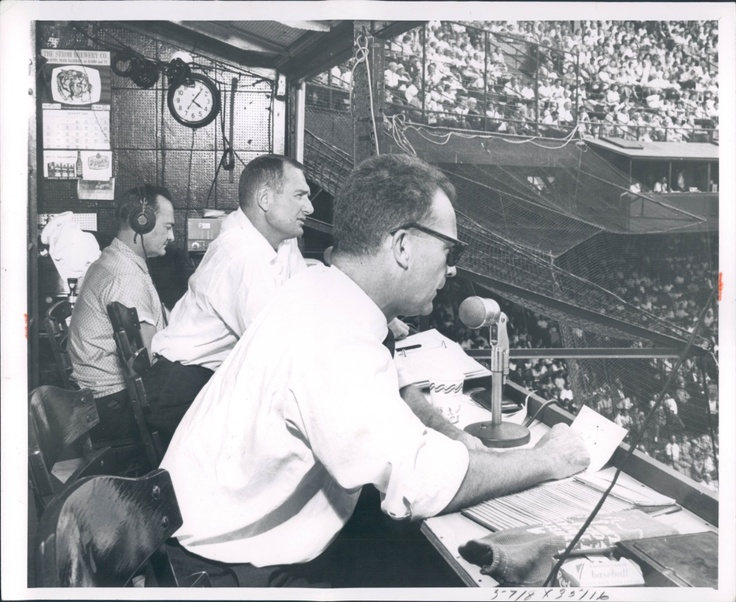 Two of the best, Ernie Harwell and George Kell, at Tiger Stadium.