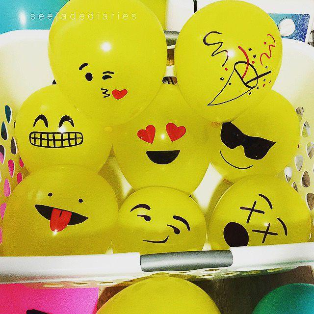 Emojis whatsapp DIY con globos