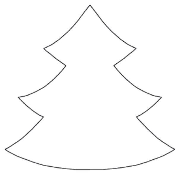 Шаблоны елки для открытки