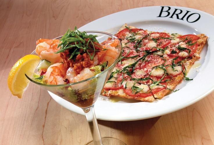 Brio Tuscan Grille's Shrimptini and Margherita flatbread - Waterside Shops, Naples Scott Pearson Naples, FL Gulf Coast International Properties