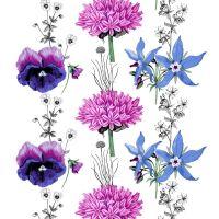 Villisalaatti tyg - lila-blå - Vallila Interior