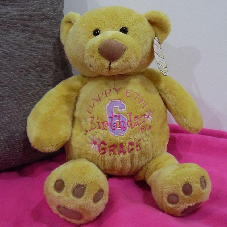 Personalised girls happy birthday soft toy teddy bear �