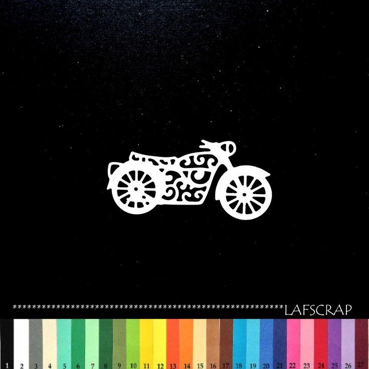 1 découpe moto véhicule scrapbooking embellissement album scrap die cut déco : Embellissements par lafscrap