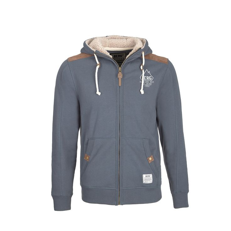 Outdoor inspired jacket, with a sherpa lined hood to complement a casual and urban style.