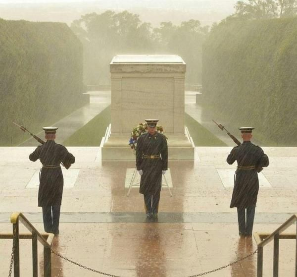 """Interesting facts about the Tomb of the Unknown Soldier and the sentinels of the United States Infantry Regiment """"Old Guard"""" How many steps does the guard take during his walk across the Tomb of th…"""