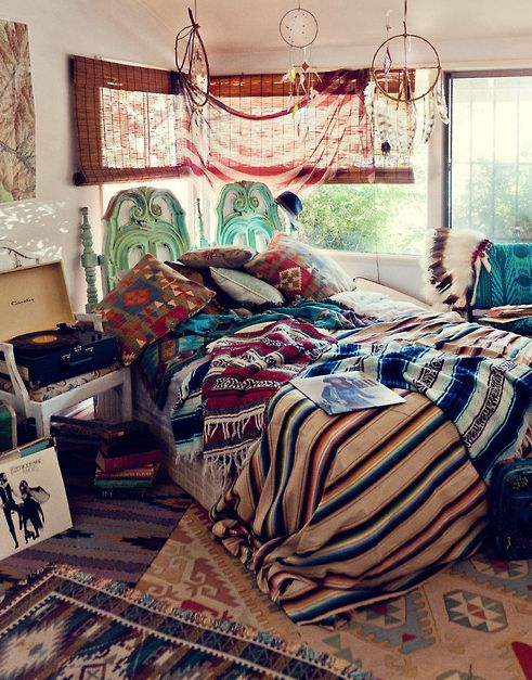 Boho Style In The Interior Luxury Bedroom La Camera Da Letto Pinterest Bed Placement Gypsy