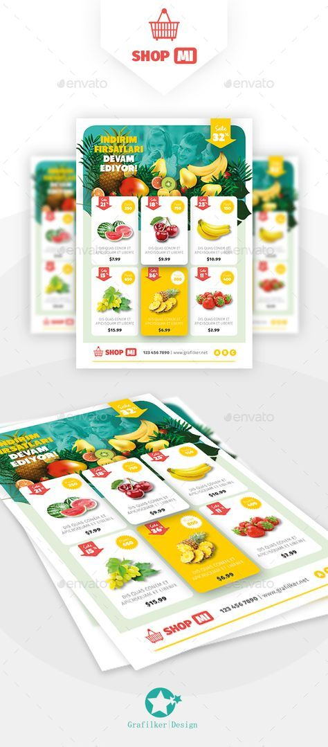 Supermarket Products Flyer Templates By Grafilker On Graphicriver