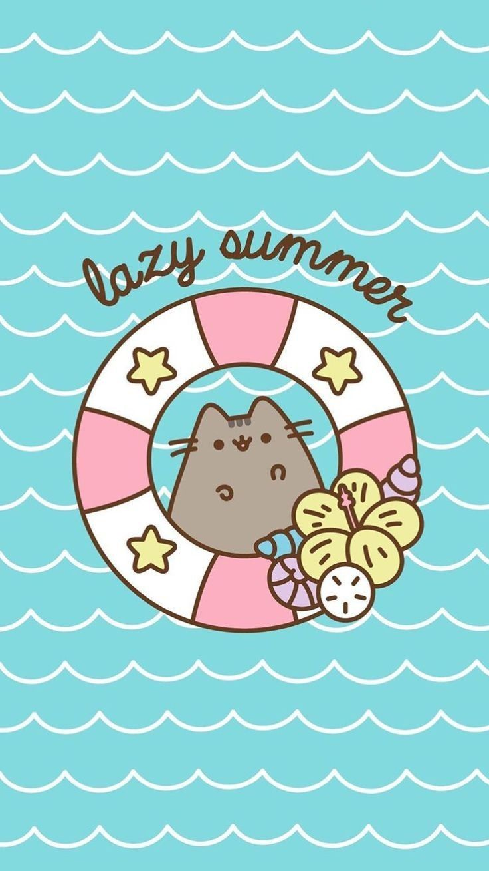 Lazy Summer Pusheen cute, Pusheen cat, Cat wallpaper