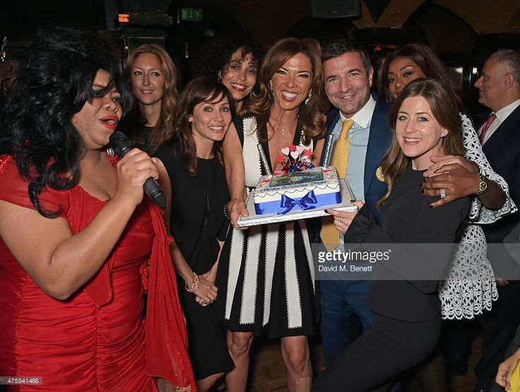 Nicole Slack Jones, Anna Matthew, Natalie Imbruglia, Jeanette Calliva, Heather Kerzner, Diego Biasi, Phoebe Hitchcox and Toni Calliva attend 'Goldie's Love-In For The Kids', the 4th annual Hawn Foundation UK fundraising dinner hosted by Goldie Hawn and Kate Hudson, supported by de GRISOGONO at Annabel's on June 1, 2015 in London, England.