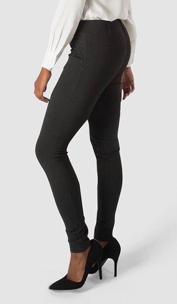 Dress Pant Yoga Pants combine elegant styling with soft, stretchy performance knit. At last, yoga pants for the office! Click for more.