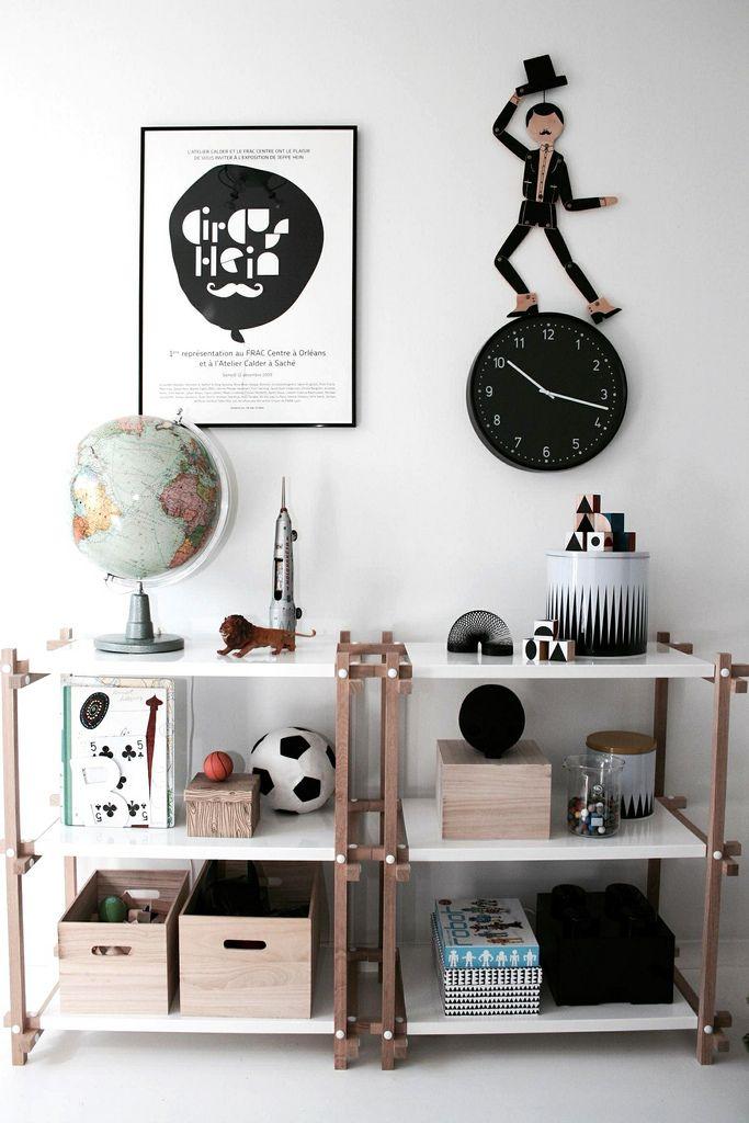 Hout en zwart-witte grafische prints. Superstoer en hip voor jongens! - Erica Hörberg