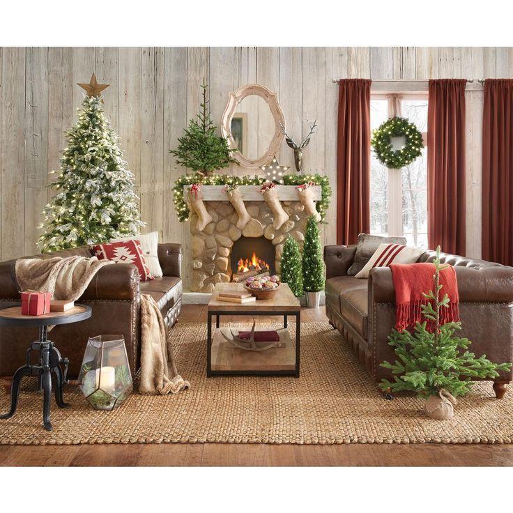 Home Decorators Collection Gordon Brown Leather Sofa. 999