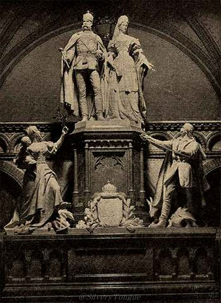 Commemorating the coronation of Hungary. Real couple Franz Josef I and Empress…