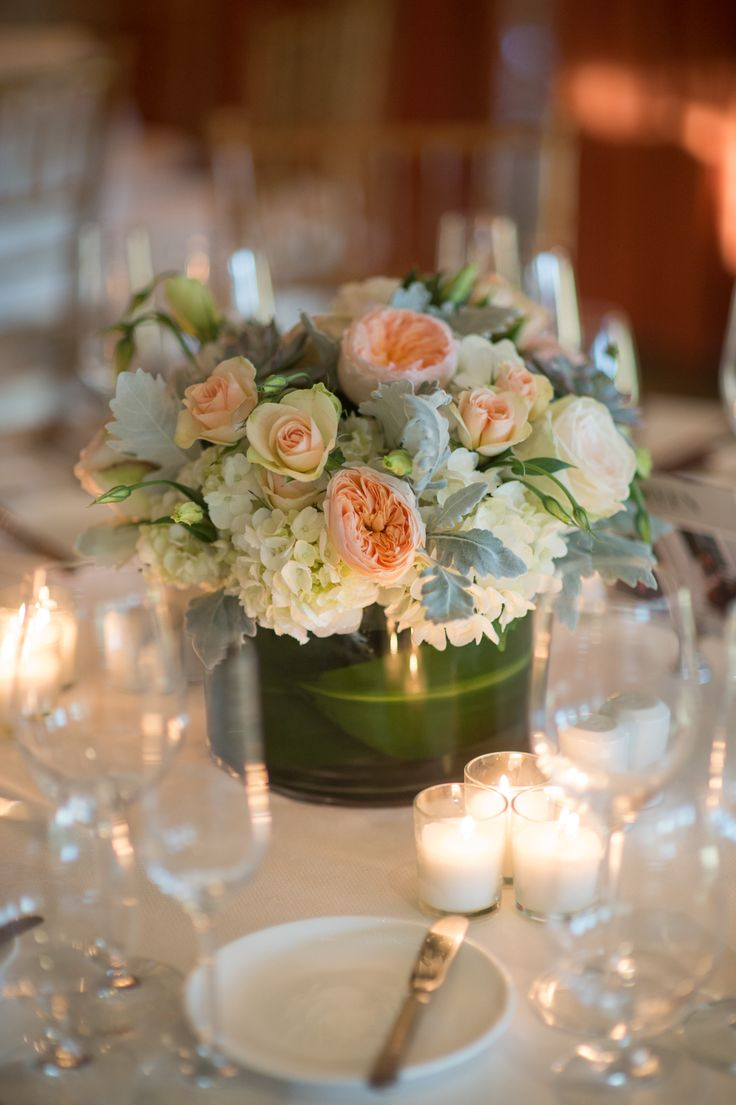 25 swoon worthy spring amp summer wedding bouquets tulle amp chantilly - Rose Hydrangea And Dusty Miller Centerpieces