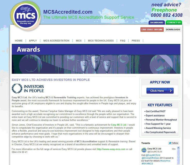 Easy MCS Ltd achieves Investors in People