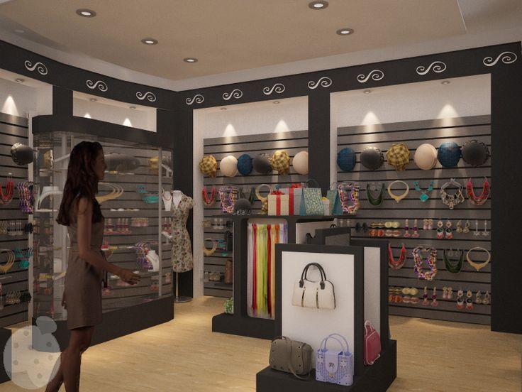 Vista interior de una tienda de accesorios para dama for Accesorios de decoracion
