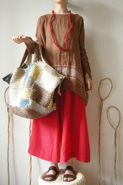 Daniela Gregis checkmate crochet bag