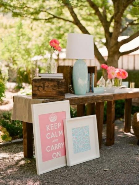 para mesa de entrada a recepcin boda vintage