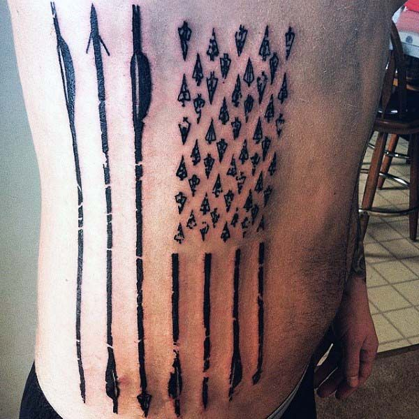 50 Archery Tattoos For Men - Bow And Arrow Designs ...