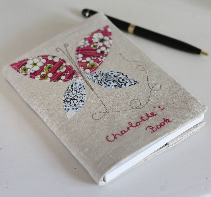 Personalised Embroidered Notebook   Butterfly