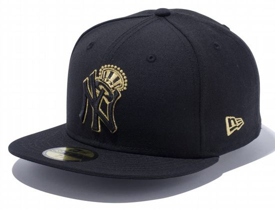 New York Yankees Top Hat 59Fifty Fitted Cap by NEW ERA x MLB ... a7e34e548a3