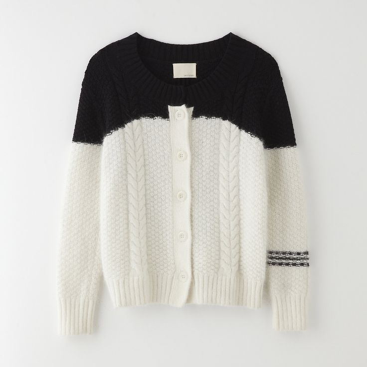 Band of Outsiders Drowning Cable Cardigan | Steven Alan