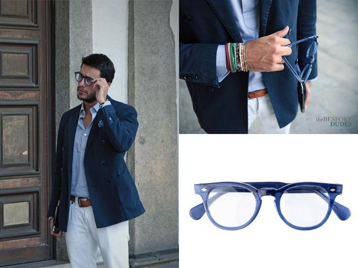 Fabio Attanasio of the stylish blog The Bespoke Dudes wearing Oliviero TOSCANI Blue Acetate Eyewear. Shop tthis model HERE > http://finaest.com/designers/oliviero-toscani-glasses/toscani-large-sky-blue-acetate-frame  #finaest #toscani #thebespokedudes #fabioattanasio #eyewear #glasses #occhiali #lunettes #menswear #accessory #style #stile