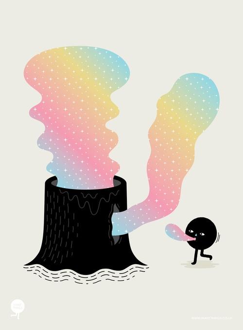 "''Magic Stump"", tirage d'art by Andrew Groves"