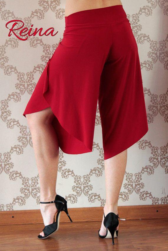 Tango / Milonga / Salsa pantalones rojos con por reinatango en Etsy