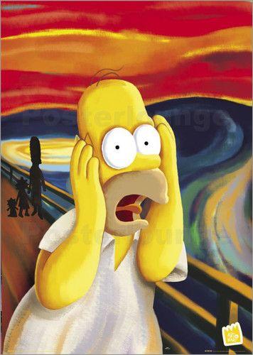 Poster von Matt Groening - Simpsons - Homer scream