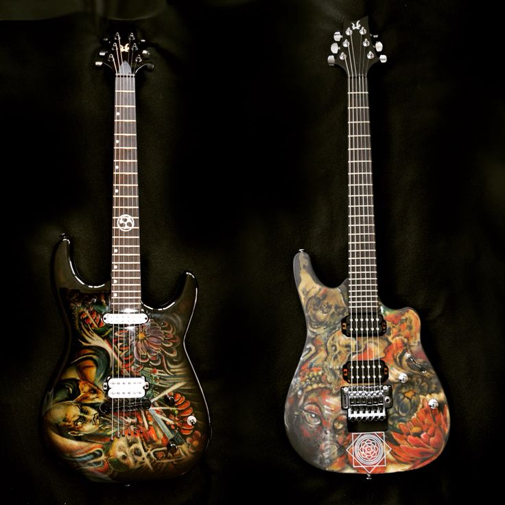 Japanese tattooed guitars