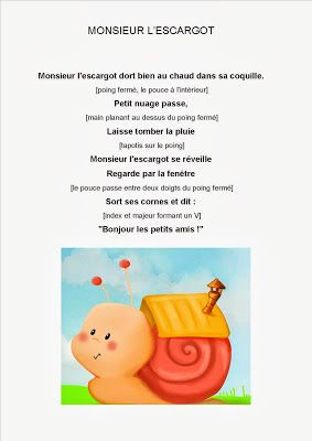 Comptine#12 Monsieur l'escargot