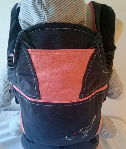 Organic charcoal and mango baby carrier