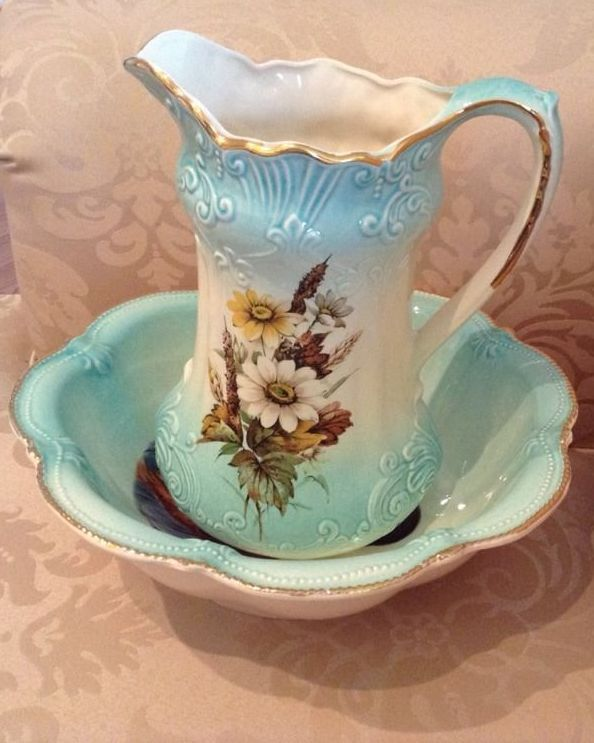 Vintage Pitcher And Bowl Rs Prussia Pitchers Bowls In 2018 Pinterest Water Set Basin