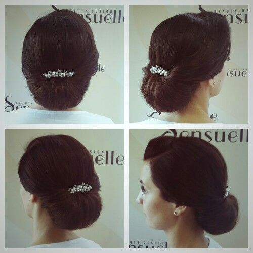 Wedding updo romantic elegant Rich hair