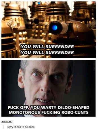 People discovered his role as Malcolm Tucker. | The Internet's Reaction To The Twelfth Doctor