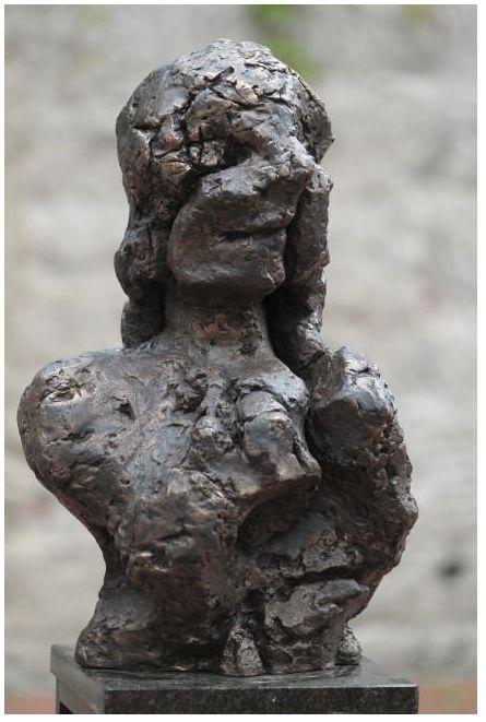wanda czełkowska, portret imaginacyjny II, brąz