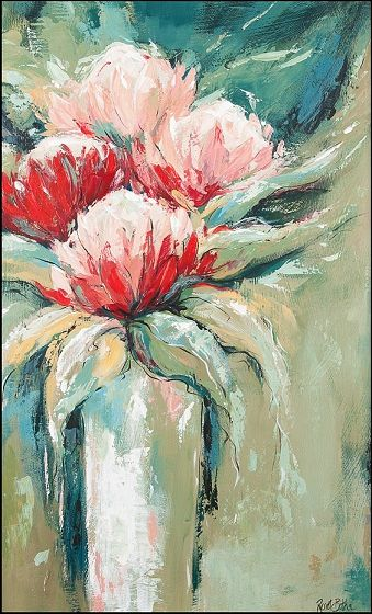 Protea 1 60cmx40cm  $495   Acrylic on canvas board - Framed