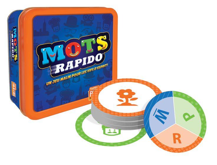 Mot Rapido - 1 boîte de rangement en métal, 60 cartes, règles du jeu. -   Age : 8 ans et + -   Référence : 00019965 #Jeux #Jouet #Famille #Enfant #Chalet #Vacances #Cadeau