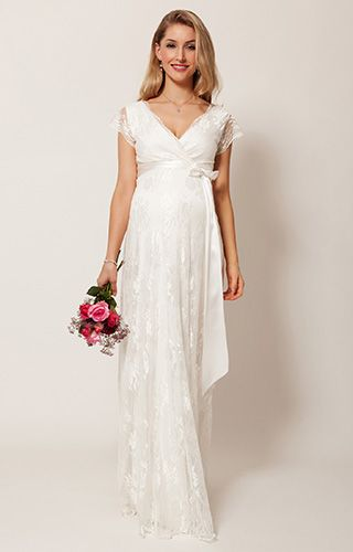 Eden Maternity Wedding Gown Long (Ivory Dream) - Maternity Wedding Dresses, Evening Wear and Party Clothes by Tiffany Rose.
