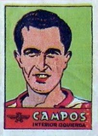 Campos. Atlético de Madrid. 1941-42. Cromos Bruguera. Interior izquierda titular.